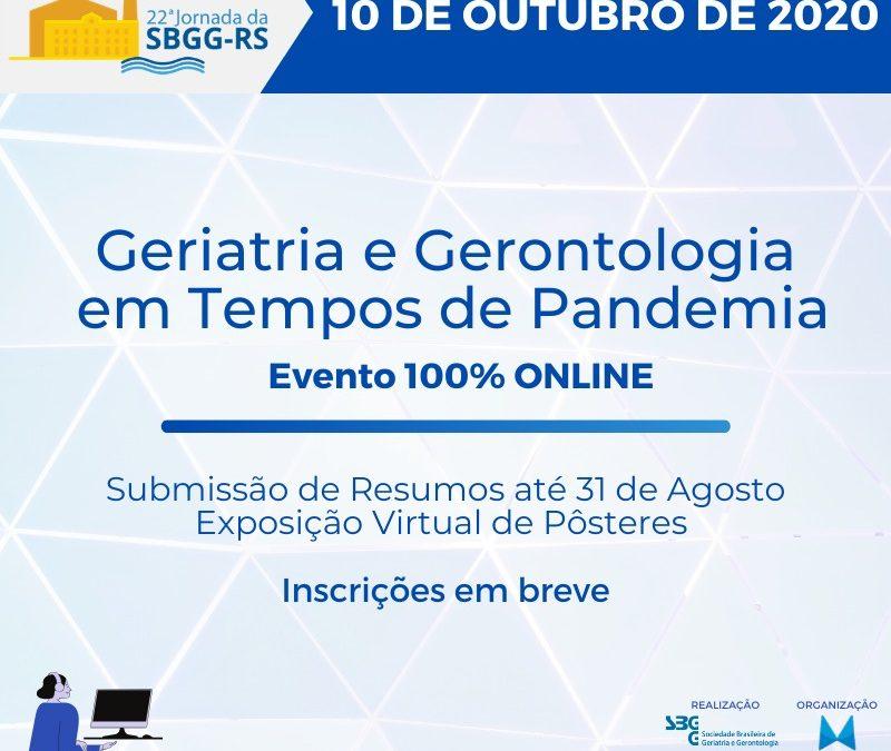 Save the Date: Geriatria e Gerentologia em Tempos de Pandemia. 100% online.